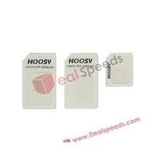 3 in 1 Nano SIM Cutter for iPhone 5 4S 4 to Micro SIM / Standard SIM Card Adaptor for iPhone 5 4S 4