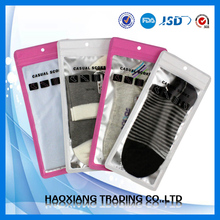 2012 new plastic zipper bag with see through window and hang hole