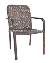 Patio PE Rattan Outdoor Dining Chair stackable garden chair