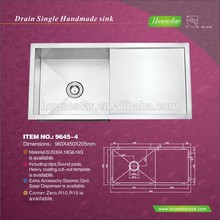 Handmade Stainless steel sink banian waste for American and Canada - 9645-4