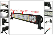 24INCH 120W LED LIGHT BAR FLOOD SPOT WORK LIGHTS 4WD UTE OFFROAD SAVE ON 240W
