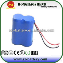 CE authentication 18500 rechargeable 18650 lithium ion battery 7.4v 1500mah