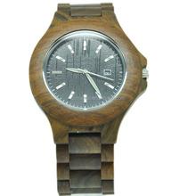 Environmentally friendly wooden wrist watch Japan quartz movt watch green natural watch