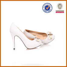 hot selling 2014 women fashion white bow all high heel shoes