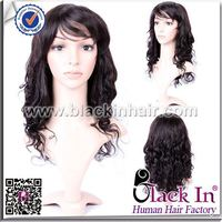 Best price 5A Virgin Indian Human hair full lace wig 12 inch