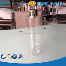 500ml flat shoulder plastic clear PET shampoo bottle