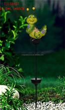 outdoor ceramic bee shape garden solar led light wholesale