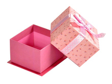 high quality embossing pattern luxury rigid paper box with ribbon