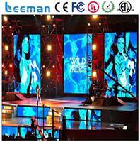 indoor super slim led screen image led display rental stage