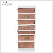 Custom loft tall 7 moving drawer chest/drawer cabinet with iron handle