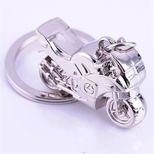2015 New Metal Zinc Alloy Motorcycle Keychains Customised Logo Motor Keyrings for Gifts