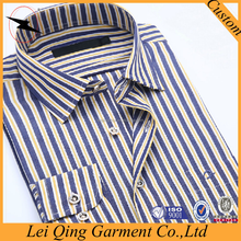 100% cotton striped tailor long sleeve made shirts of men