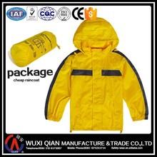 kids Eco-Environment yellow cute raincoat/rainsuit/rainjacket/rain coat