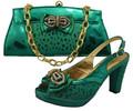 de estilo italiano de oro zapatos de plataforma con bolso de mano para que coincida con sb1509