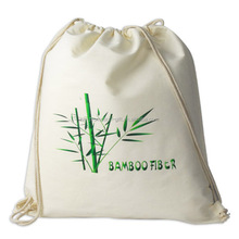 2014 Alibaba China supplier eco-friendly 100% cotton drawstring backpack with custom printed