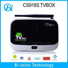 Factory supply quad core 2GB/16GB google smart tv box support xbmc apk skype talking CS918S