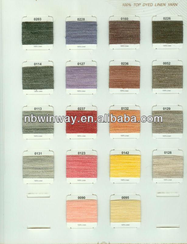 linen yarn top dyed //linen yarn heather