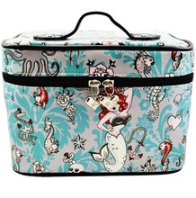 Beauty Retro Molly Mermaid Makeup Bag Train Case Cosmetic bag