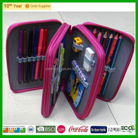 Cheap Promotion 3 Layer Pencil Case / cheap plain pencil case