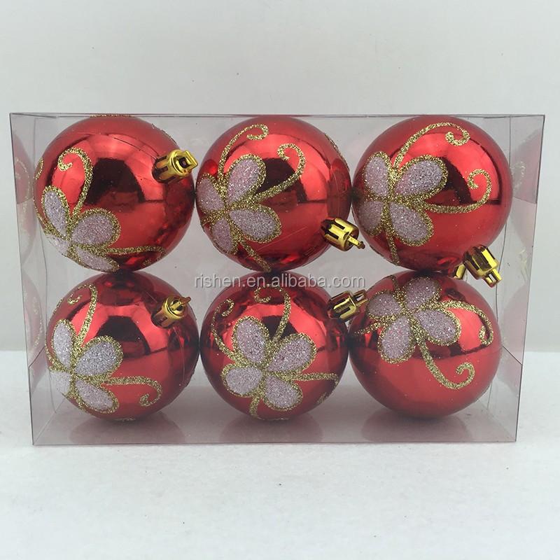 Printed plastic christmas ball/xmas ball/christmas decoration
