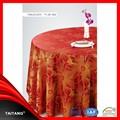 2015 de alta qualidade melhor venda rodada barato poliéster fantasia vermelho da tabela do casamento pano e tampa da cadeira