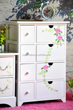 modern solid wood multi drawer colored drawing Storage Chests & Trunks