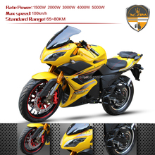 5000W 72V Electric Motorcycle 2 series Lead-acid battery 20AH for Adult