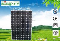 A grade cell 250w monocrystalline solar module for solar system per watt price