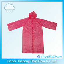 PE before open long gown raincoat with buttons