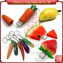 customize 3D pvc fruits promotional gift usb flash drive, cute fruits usb drive