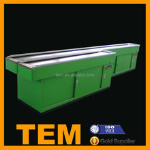 Hot Sale High Quality Supermarket Checkout Counter With Conveyor Belt