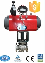 Floating Ball Valve with RCI Series Pneumatic Actuator and ASCO Solenoid