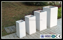 White light weight outdoor cement plant pot for home and garden decoration