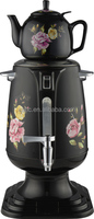 3.0L Electric Russian s/s Samovar CA-900G black with ceramic teapot