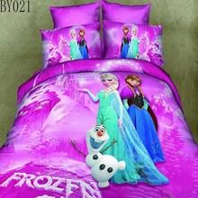 luxury design hot sale 100% cotton frozen 3d bed sheet