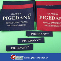 End -fold Custom brand name Clothing Garment Soft Woven Labels for Apparels