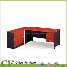 CD-86616 L Type Exceutive Office Desk, Desk with Storage