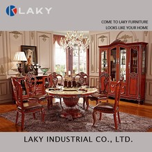 852 Tough marble dining set with lazy susan