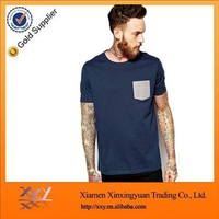 Custom T Shirt Manufacturers Sale Fashion Cheap Front pocket Men T Shirt Made In China Free Samples Online Shopping