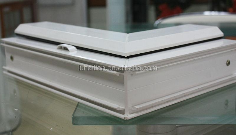 effecient pvc white color Horizontal Sliding Style Vinyl Windows with grids