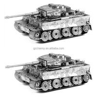 Hot Sale Metallic Steel for Nano 3D DIY Tiger Tank Jigsaw Puzzle Model No Glue Toy Kid Gift Intelligent Game Birthday