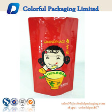 2015 custom printed food grade Aluminum foil retort pouch with ziplock for spice food packaging