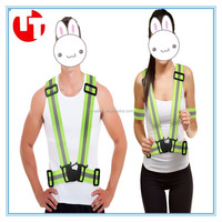Hi vis with adjustable buckle ealstic custom reflective safety belt