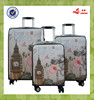 colorful wholesale lovely trolley pu material low price luggage built -in style China striped luggage