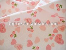 100% lençol de algodão estampado de tecido