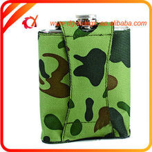 ARMY GREEN Stainless Steel MILITARY HIP FLASK Pocket Alcohol 8oz/6oz