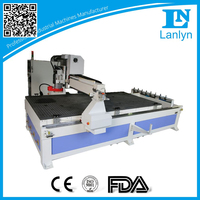 Lanlyn 7.5kw Spindle m25h Auto Tool Changing CNC Router for Wood Furniture Door