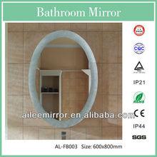 Fashional designed wing mirror blue figured glass mirror pocket mirror with logo