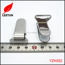 Factory supply stainless steel metal suspender clip with plastic teeth