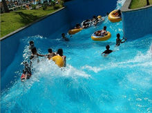Safe thrilling tide lazy river for water park, artificial river for aqua park, wave river